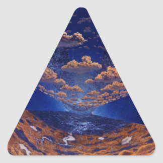 Space Station of the Future Triangle Sticker