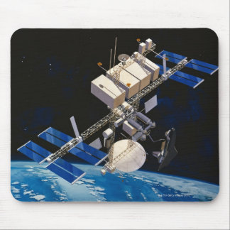 Space Station Orbiting Earth 10 Mousepad
