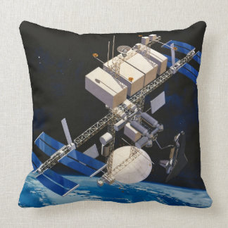 Space Station Orbiting Earth 10 Pillow