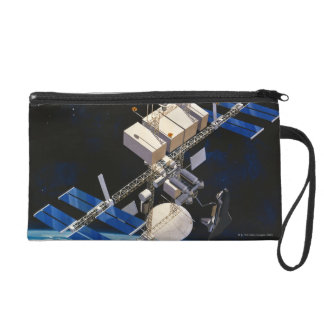 Space Station Orbiting Earth 10 Wristlet Purse