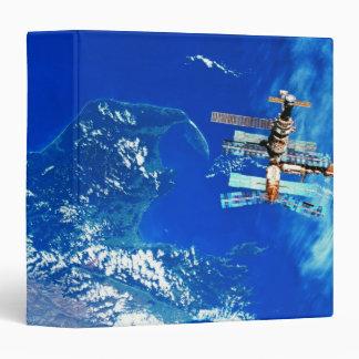 Space Station Orbiting Earth 2 Binder