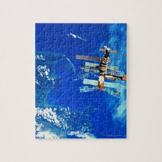 Space Station Orbiting Earth 2 Jigsaw Puzzle