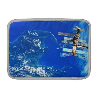 Space Station Orbiting Earth 2 MacBook Sleeve