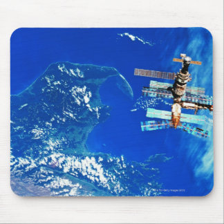 Space Station Orbiting Earth 2 Mousepad
