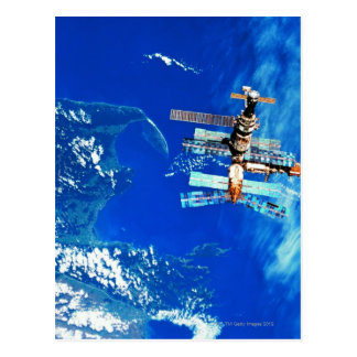 Space Station Orbiting Earth 2 Postcards