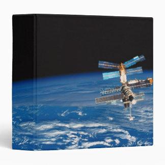 Space Station Orbiting Earth 3 Vinyl Binders