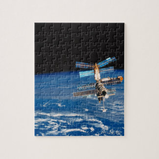 Space Station Orbiting Earth 3 Jigsaw Puzzle