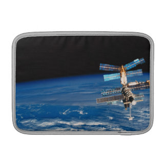 Space Station Orbiting Earth 3 MacBook Sleeve