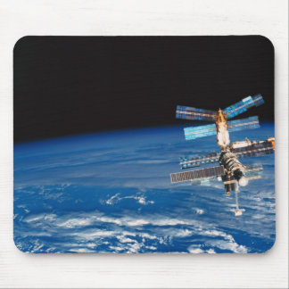 Space Station Orbiting Earth 3 Mousepad