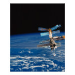 Space Station Orbiting Earth 3 Poster