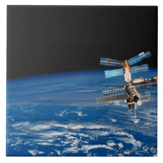 Space Station Orbiting Earth 3 Tile