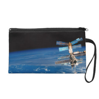 Space Station Orbiting Earth 3 Wristlet