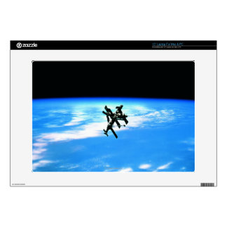 Space Station Orbiting Earth 4 Decals For Laptops
