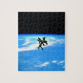 Space Station Orbiting Earth 4 Jigsaw Puzzle