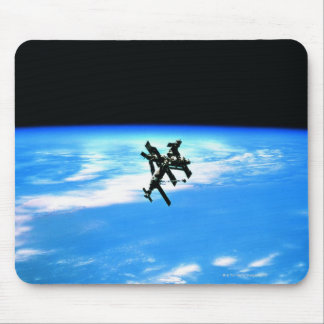 Space Station Orbiting Earth 4 Mousepad