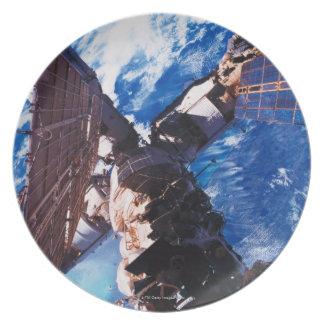 Space Station Orbiting Earth 5 Melamine Plate