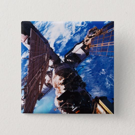 Space Station Orbiting Earth 5 Pinback Button