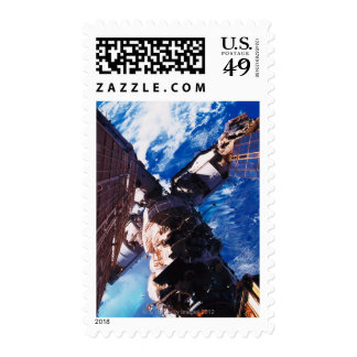 Space Station Orbiting Earth 5 Stamp