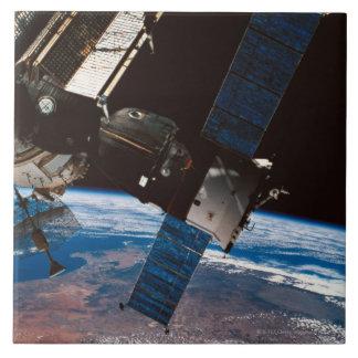 Space Station Orbiting Earth 6 Ceramic Tile