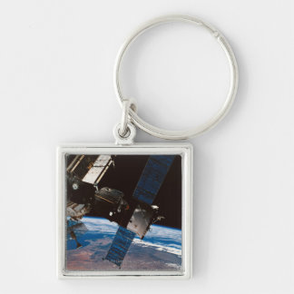 Space Station Orbiting Earth 6 Keychain