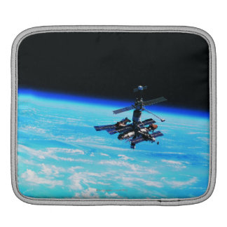 Space Station Orbiting Earth 7 iPad Sleeve