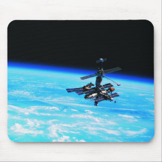 Space Station Orbiting Earth 7 Mouse Pad