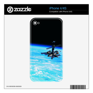 Space Station Orbiting Earth 7 Skin For iPhone 4S