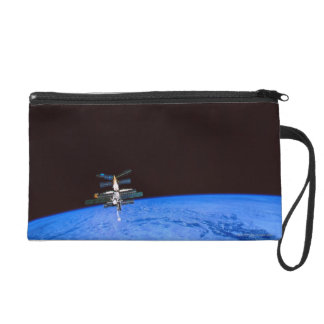 Space Station Orbiting Earth 8 Wristlet Purse