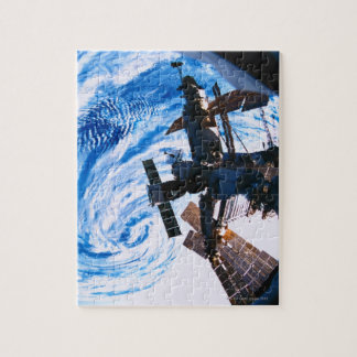Space Station Orbiting Earth 9 Jigsaw Puzzle
