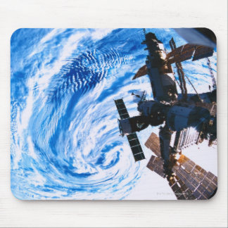 Space Station Orbiting Earth 9 Mouse Pad