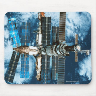 Space Station Orbiting Earth Mousepad