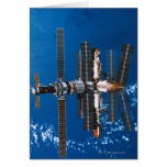 Space Station Orbiting in Space Card