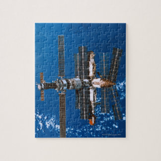 Space Station Orbiting in Space Puzzle