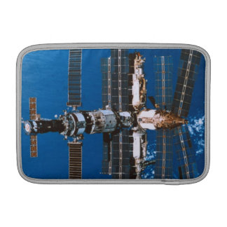 Space Station Orbiting in Space Sleeve For MacBook Air