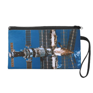 Space Station Orbiting in Space Wristlet