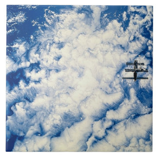 Space Station over the Pacific Ceramic Tile