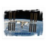 Space station postcard