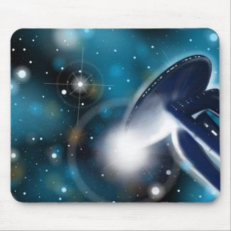 Space Station Scifi Mousepad