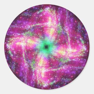 Space Round Sticker