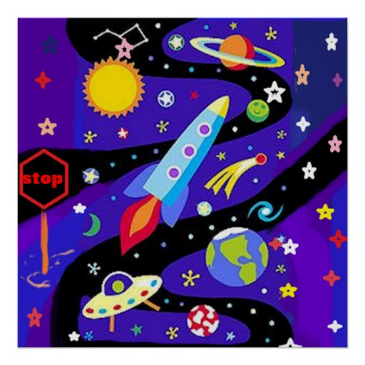Space Stop Poster