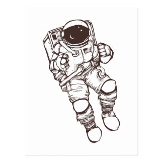 Space Suit Post Card