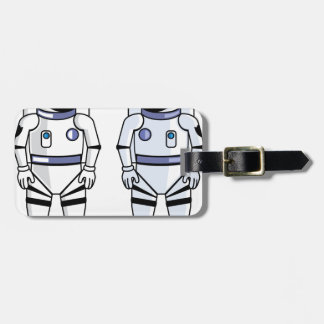 Space Suit Vector Bag Tag