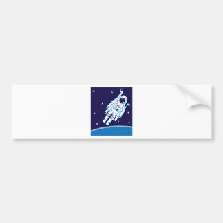 Space Suit Vector Bumper Sticker