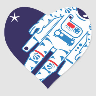 Space Suit Vector Heart Sticker
