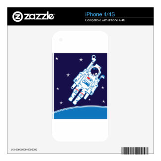 Space Suit Vector iPhone 4 Decal