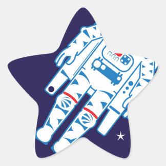 Space Suit Vector Star Sticker