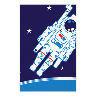 Space Suit Vector Stationery