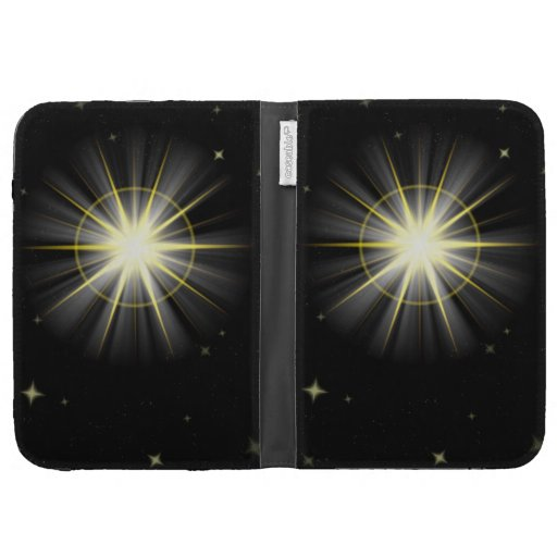 Space Sun Flare Black Background Kindle Cover #2