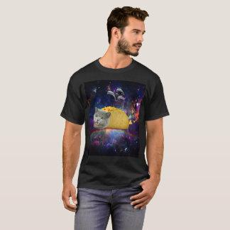 Space Tacocat Flying Dolphins Tortilla Chips Rainb T-Shirt