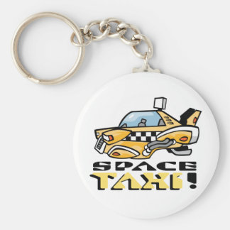 Space Taxi! Basic Round Button Keychain